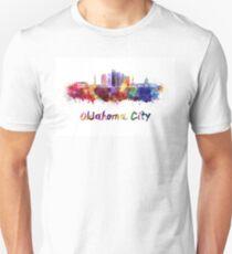 Oklahoma City V2 skyline in watercolor Unisex T-Shirt