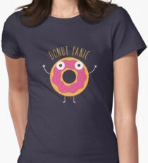 Donut Panic Women's Fitted T-Shirt