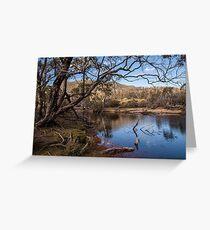 Narcissis River - Overland track Tasmania Greeting Card
