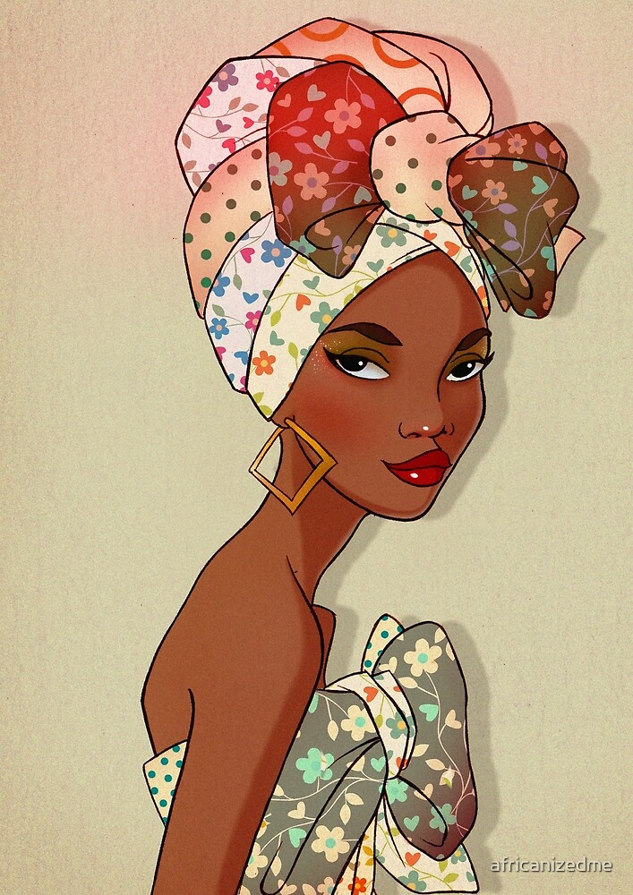 Floral African Woman by africanizedme