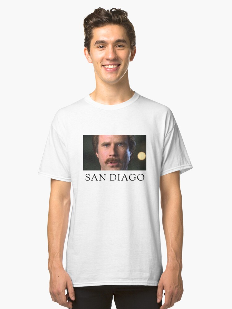 Ron Burgundy Represents San Diego Classic T-Shirt Front
