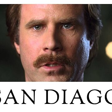 Ron Burgundy Represents San Diego by hasbeens