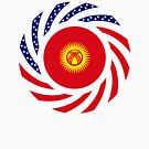 Kyrgyzstan American Multinational Patriot Flag Series by Carbon-Fibre Media