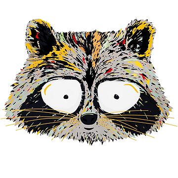 Cartoon Raccoon by weirdbird