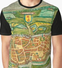 Map Of Amsterdam 1657 Graphic T-Shirt