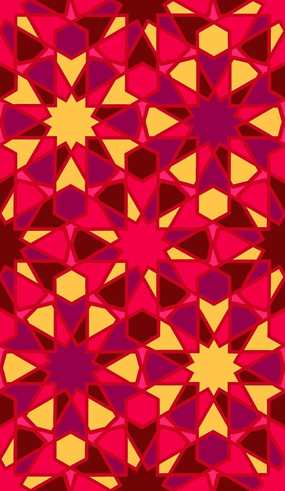 Spanish Director - Al-Nasir Pattern Red with Red lines by foxific