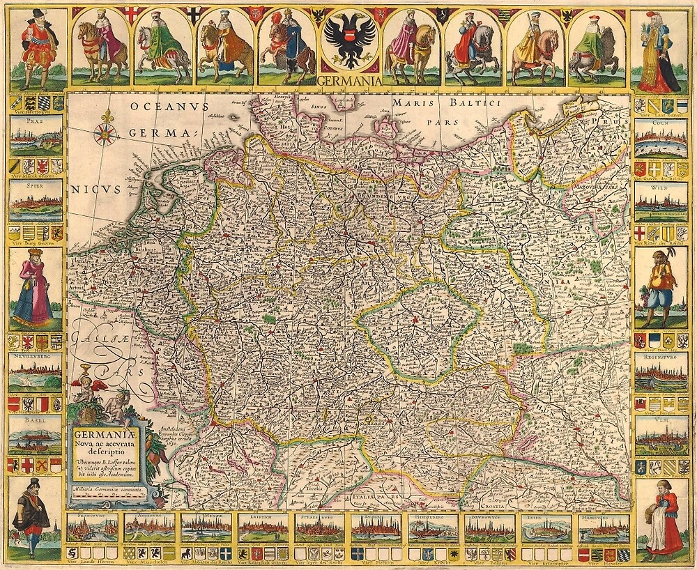 Map Of Germany 1630 by mollyfare