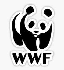 ORYXS Men's World Wildlife Fund Wwf Logo T-Shirt Sticker