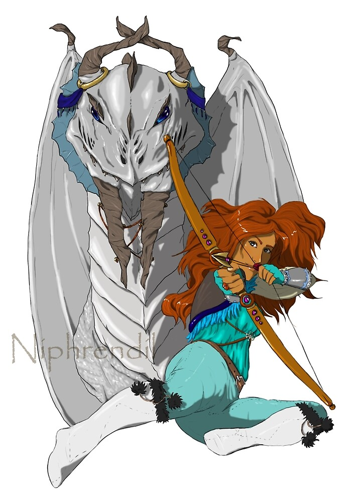 Lad and her dragon by niphrendil