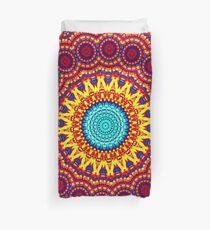 Sunflower Energy Mandala Indie Art Duvet Cover