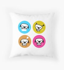 Dog icons collection. Original art and illustration Throw Pillow