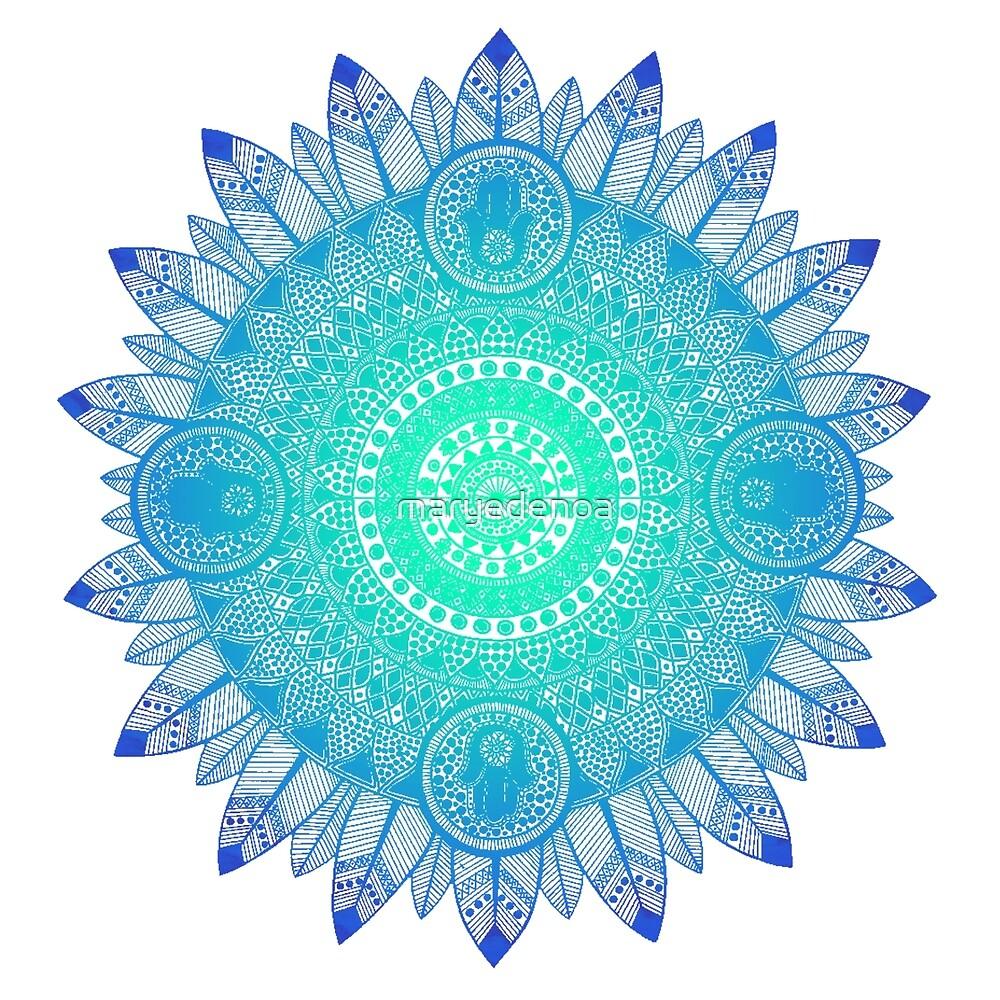 Mandala Blues by maryedenoa