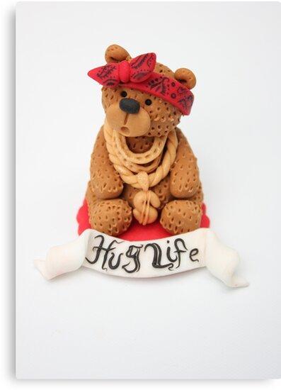Hug Life by artofcake