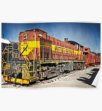 Railroad Engine  Poster