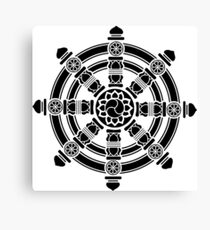 Dharma Wheel of Fortune, Buddhism, Auspicious Symbol Canvas Print