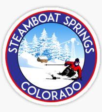 STEAMBOAT SPRINGS COLORADO SKI BIKE WANDERUNG SKI LIFT Sticker