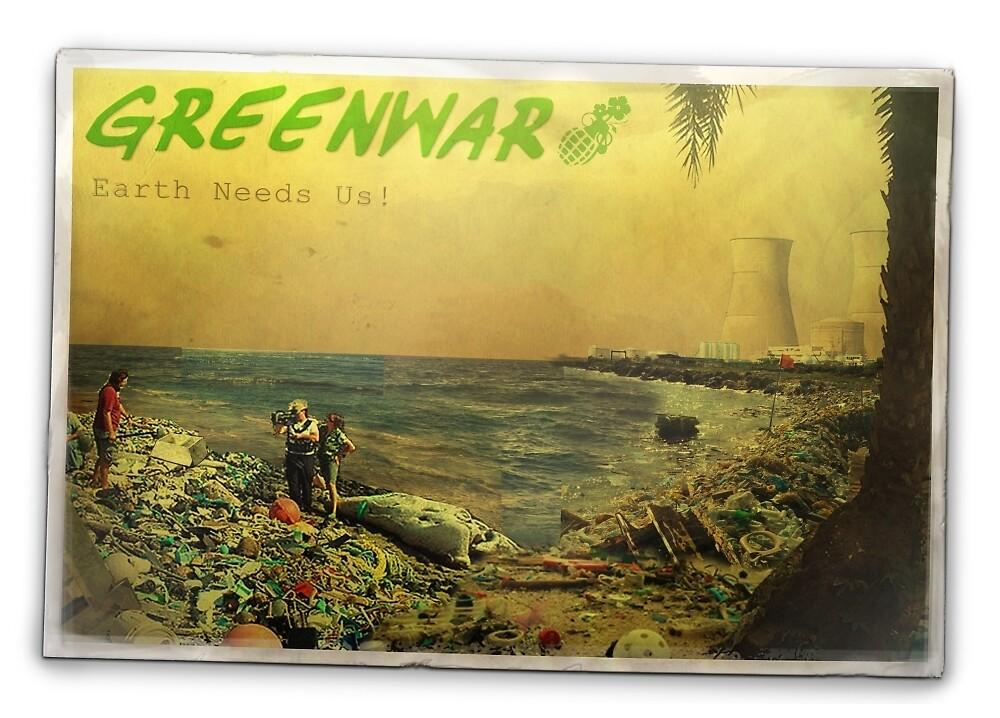 Greenwars - Postcard by Thomas Smart