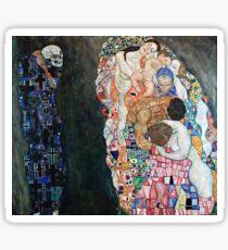 Gustav Klimt - Death And Life (1910 15)  Sticker