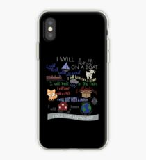 """Knitting Products """"I Will Knit with a Goat..."""" iPhone Case"""