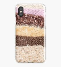 Knit layers iPhone Case