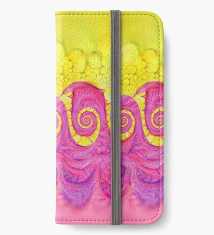 Yellow and Pink iPhone Wallet