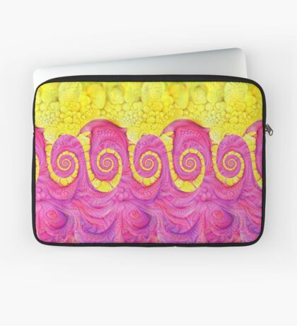 Yellow and Pink Laptop Sleeve
