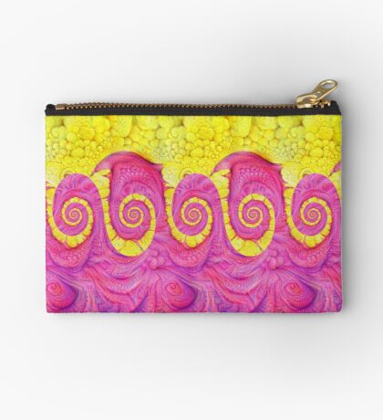 Yellow and Pink Zipper Pouch