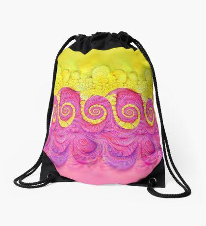 Yellow and Pink Drawstring Bag
