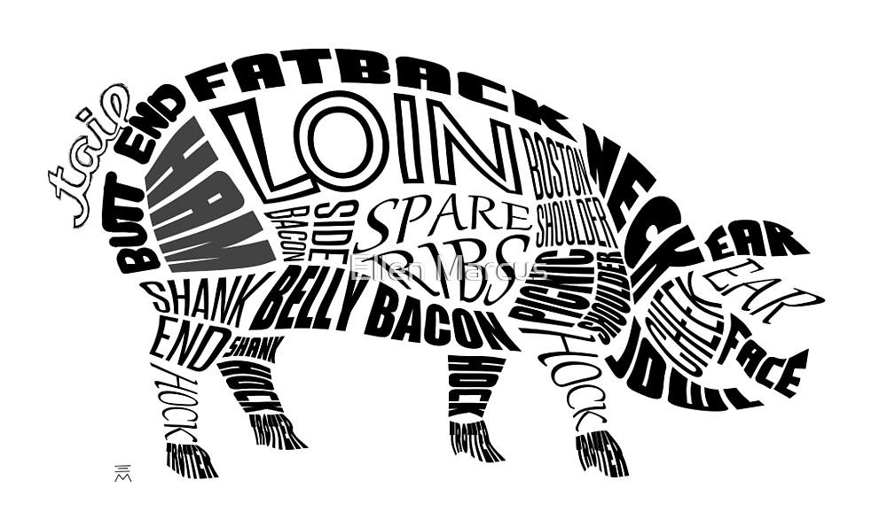 Pork Typogram by Ellen Marcus