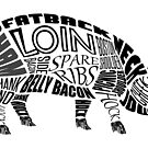 Pork Typogram by Ellen Marcus