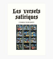 The satirical verses - Stained glass Art Print