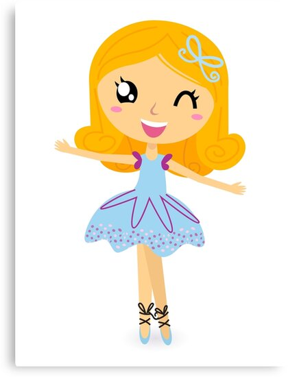 Cute dancing little ballerina girl by Bee and Glow Illustrations Shop