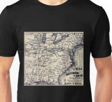 0201 Railroad Maps A map of the Baltimore Ohio Railroad and its principal connecting lines uniting all parts of the East Unisex T-Shirt