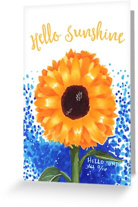 Hello Sunshine Card by FairyNerdy