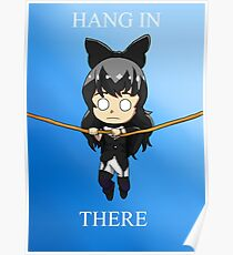 Motivational cat poster Poster