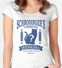 Schrodinger's Cat - Quantum Mechanics Paradox Geek Women's Fitted Scoop T-Shirt