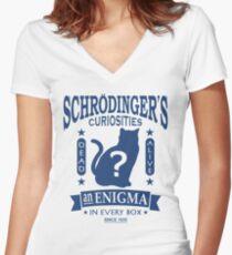 Schrodinger's Cat - Quantum Mechanics Paradox Geek Women's Fitted V-Neck T-Shirt