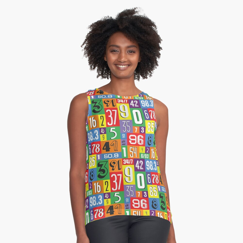 Rainbow numbers Contrast Tank Front
