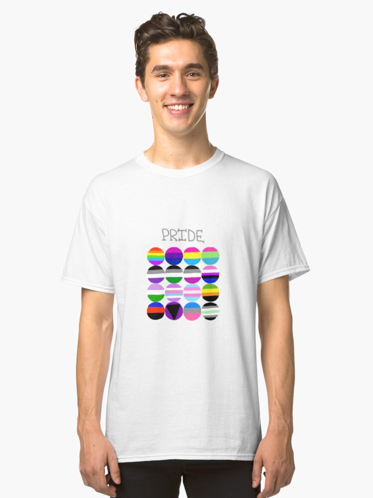 Pride Flags Circles Classic T-Shirt Front