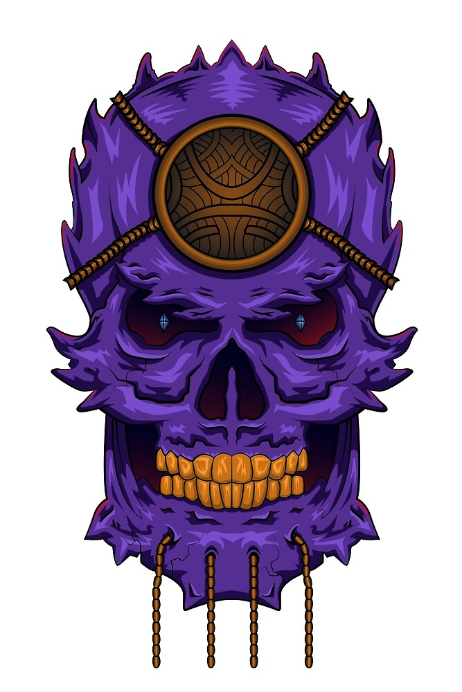Purple Skull by SINDAR