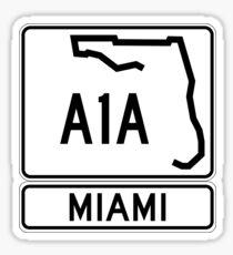 A1A - Miami Sticker