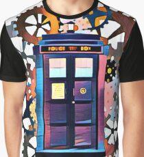 Colorful TARDIS Art Graphic T-Shirt