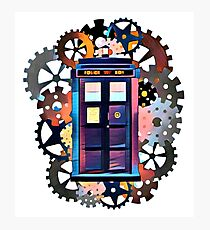 Colorful TARDIS Art Photographic Print