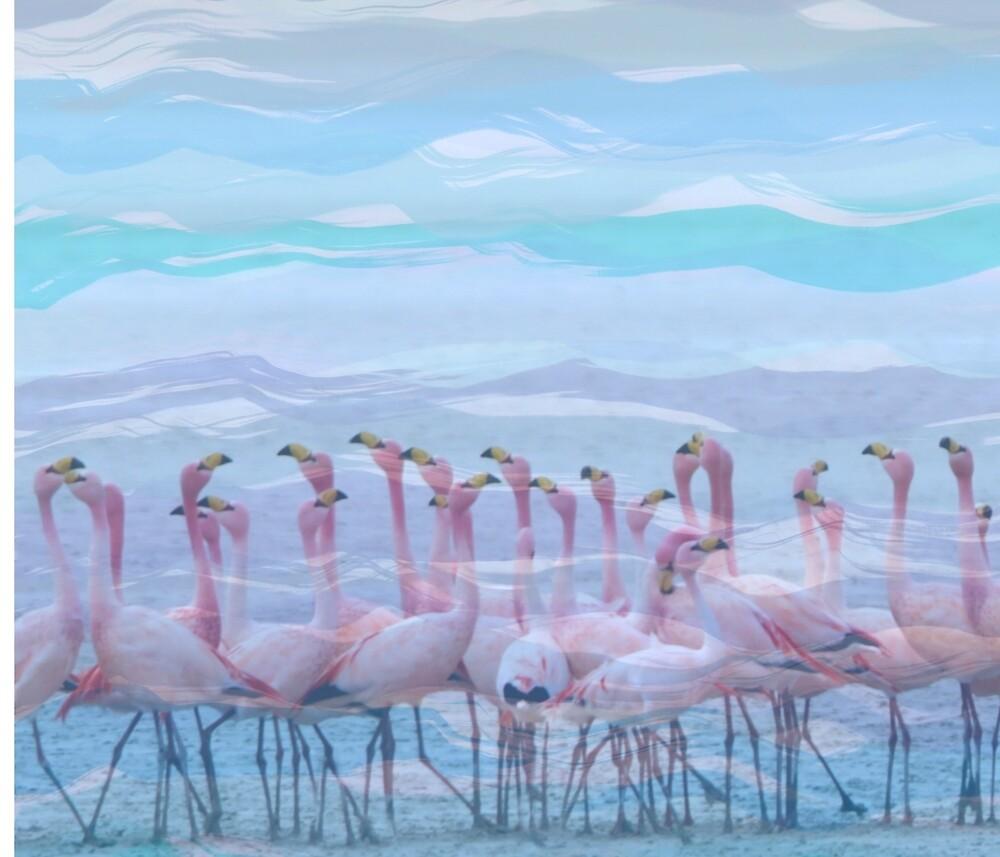 Flamingos #7, fun design by zeldashaffer