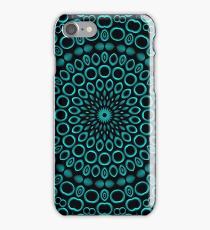 Teal Rings Mandala iPhone Case/Skin