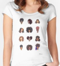 How To Be Curly Women's Fitted Scoop T-Shirt
