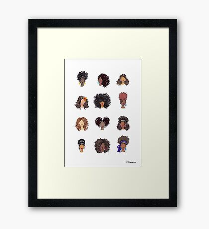 How To Be Curly Framed Print