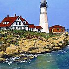 Portland Head Light House by Randy Sprout