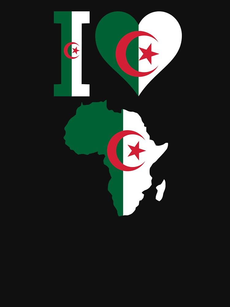 Algeria Flag Africa Map T-Shirt by mamatgaye
