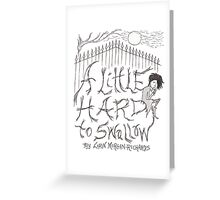 Cover illustration from A Little Hard to Swallow: 1334 Greeting Card